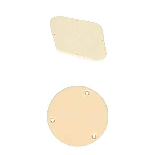 B Baosity - Interruptor de color crema de calidad y tapa de cavidad para placa trasera de la placa trasera para guitarra Les Paul LP