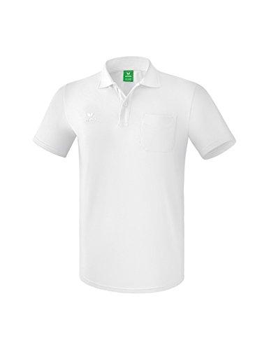 Erima Erwachsene Poloshirt mit Brusttasche, weiß, L