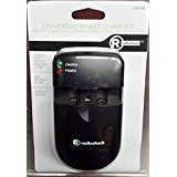 RadioShack Unversal Smart Charger - Top quality - Home and Car adapters included - Easy to use - Charges most 3.6-3.7v and 7.2v Li-ion batteries. Charges 2 AA or AAA Ni-cad or Ni-mh batteries - Simple and Easy to use - 2302298 - Great for Camcorder - Camera - Cell phone lithium batteries -