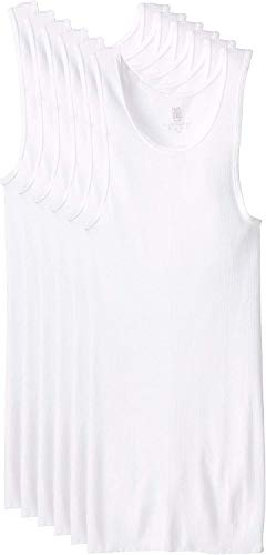 BVD Men's Underwear & Undershirts, Tank - White, Large