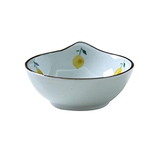 GGQF Postre Cuencos Ensalada Cuencos Fruta cerámica condimento Plato Plato Plato japonés Platos Platos Platos Salsa de vajilla Plato,B