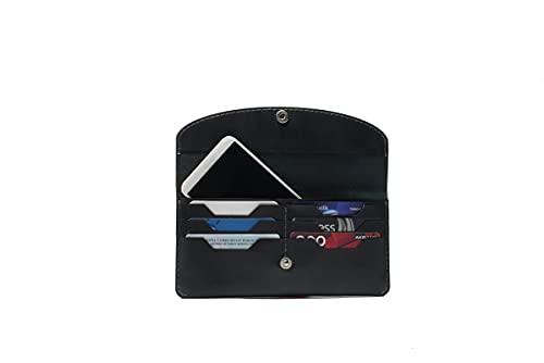 Hecho a mano de cuero genuino tarjeta caso teléfono cartera auténtico mujeres hombres accesorio elegante diseño regalo - ES-9032-G