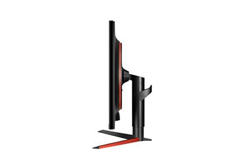"LG 32GK650F-B - Monitor Gaming QHD de 80 cm (31,5"") con Panel VA (2560 x 1440 píxeles, 16:9, 1 ms con MBR, 144Hz, 350 cd/m², 3000:1, NTSC >72%) Color Negro y Rojo"