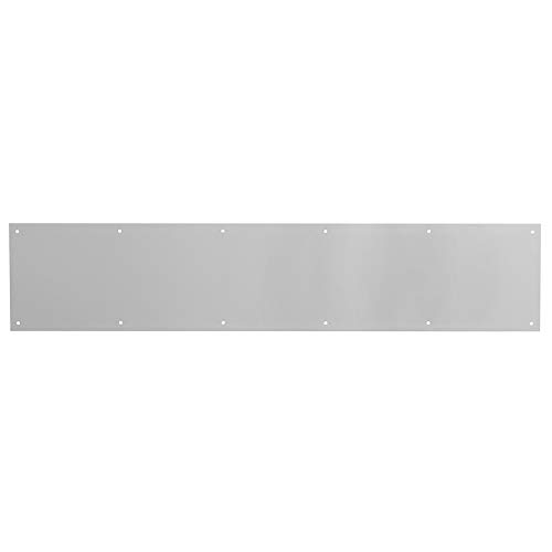 Prime-Line MP4837 Door Kick Plate, 6 x 34-Inch, Satin Nickel Aluminum, Pack of 1