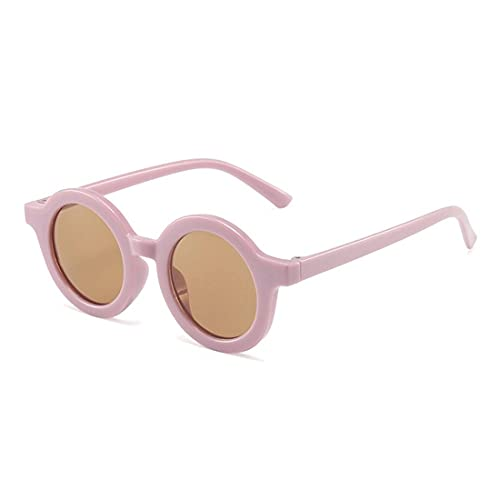 elegante UV Protected Baby Round Sunglasses for Boys and Girls (3+ Kids Sunglasses) (C5 - Pink)