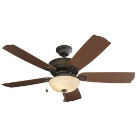 Harbor Breeze Echolake 52-in Bronze Downrod or Close Mount Indoor/Outdoor Residential Ceiling Fan Standard Included (5-Blade)