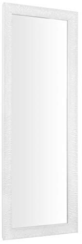 GaviaStore – Julie 140x50 cm - Specchio moderno da parete di altissima qualità - lungo figura intera alto grande decor soggiorno modern sala paret camera bagno ingresso (Bianco)