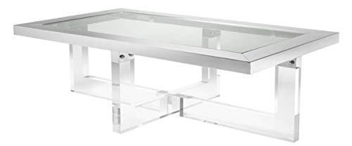 Casa Padrino Luxus Couchtisch 140 x 80,5 x H. 43 cm - Designer Wohnzimmertisch