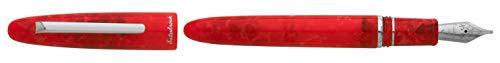 Esterbrook Vulpen uit de serieEstie Maraschino, schrijfstift van acryl met beslag van palladium, in de kleur rood, pendikte medium (M), E476-M