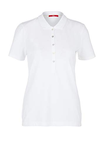 s.Oliver Damen Polo-Shirt Polohemd, White, 46
