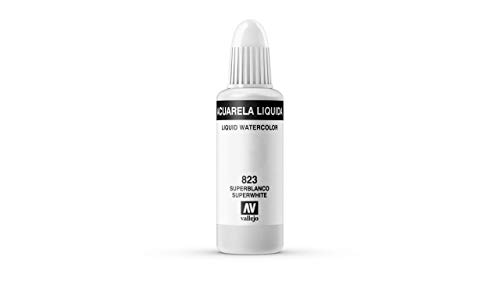 Vallejo - Acuarela líquida 32ml, color superblanco