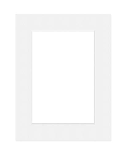 Deha Passepartout, 59,4x84,1 cm (DIN A1), für Bilder im Format 42x59,4 cm (DIN A2), Weiß (Hellweiß)
