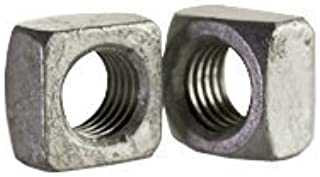 Zinc Plated 5//8-11 Square Nut 75 Coarse Thread