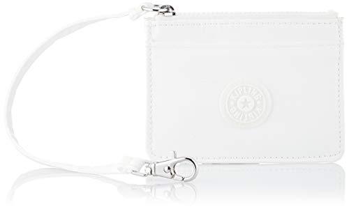 Kipling Cindy, Carteras para Mujer, Blanco (White Metallic), 11.5x8x1 cm