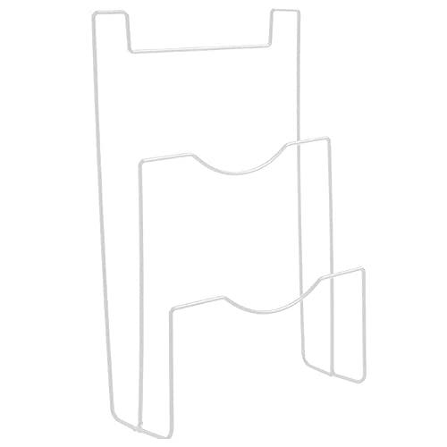 Pokrywka garnków Półka Szafka Drzwi Wiszące Uchwyt Pokrywki Uchwyt Ścienny Organizacja Kuchni Regał Magazynowy Szafka Metalowy Wiszący Organizer (Biały)