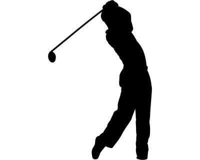 Samunshi® Autoaufkleber Golfspieler Aufkleber in 7 Größen und 25 Farben (10x6,5cm silbermetalleffekt) - 2