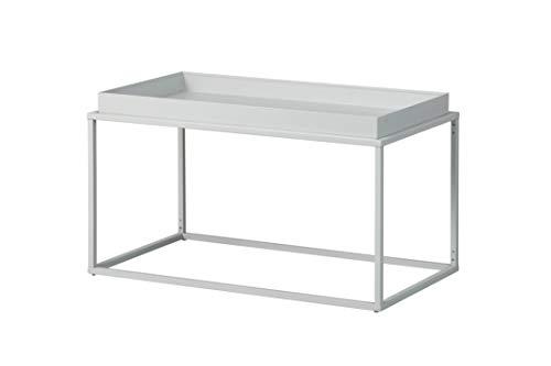Inter Link Design salontafel in industriële stijl metaal grijs geschikt voor binnen en buiten