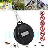 Ultrasonic Pest Repeller with Compass, Solar Powered or USB Charged, Portable Outdoor Ultrasonic