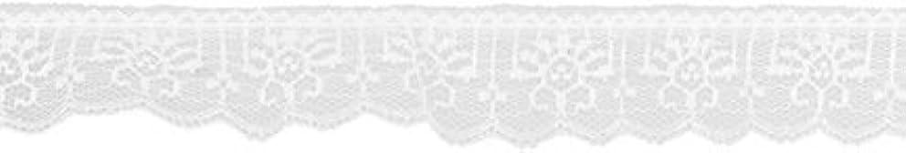 Decorative Trimmings White Ruffled Vertical Lace Trim 1-3/8