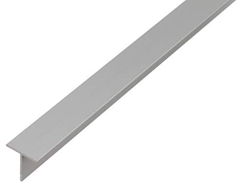 GAH-Alberts 471866 T-Profil | Aluminium, silberfarbig eloxiert | 1000 x 35 x 35 mm