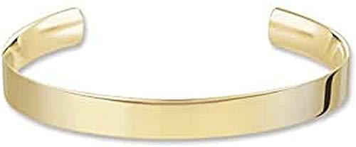 THOMAS SABO Damen-Armreif Gelbgold Love Cuff mit Gravur Silber vergoldet 8.8 cm - AR088-413-12-L
