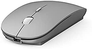 WiWU Rechargeable Wireless Mouse- Silent To Eliminate Clicking Sounds WM102-Silver