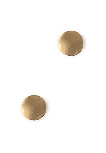 Heideman Ohrringe Damen Ewiger Kreis aus Edelstahl gold farbend matt Ohrstecker für Frauen runde Ohrschmuck Edelstahlschmuck