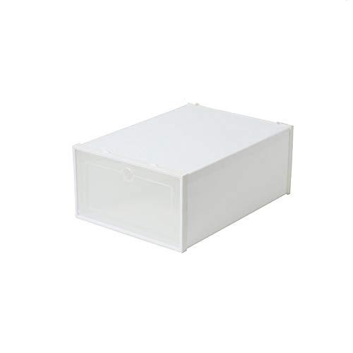MHIBAX Caja de Almacenamiento de Zapatos Engrosada Caja de Almacenamiento de Zapatos Armario de Zapatos cajón Almacenamiento de Zapatos Zapatero de plástico 35,3x25,7x15,1 cm Blanco (6 Piezas)