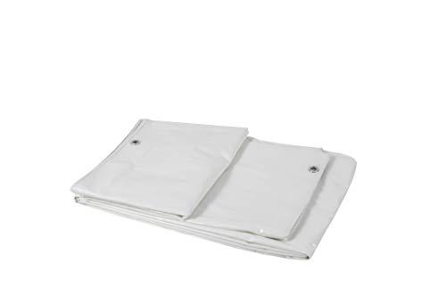 Garbric 0670 luifel, versterkt, veelzijdig inzetbaar, wit, 3 x 4 m, 120 g