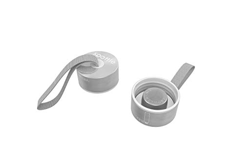 spottle® Edelstahl- und Bambusdeckel für Glasflaschen in 550, 750 und 950ml / Metall- und Holzdeckel für Glas-Trinkflaschen/Ersatzdeckel (Edelstahldeckel mit Schlaufe)