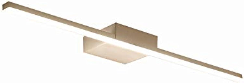 Einfache, moderne und energiesparende LED-Leuchten Spiegel Badezimmer Spiegelschrank Nordeuropa Beleuchtung wasserdicht Beschlagfrei Hardware Light Body Spiegel vorne Licht (Flach mit Rohr,