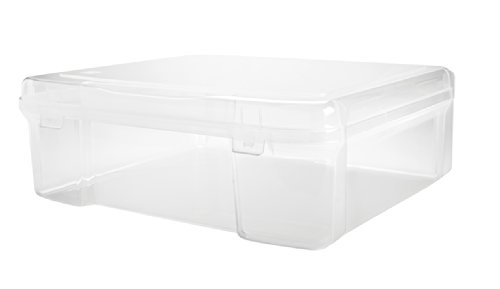 "IRIS USA, Inc. SBC-450 12u0022 x 12u0022 Portable Project Case, Clear, 17"" X 15"