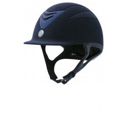 Equi-Theme/Equit'M Unisex's 911901002 Air Microfaser-Helm, Navy, Small/53-54 cm