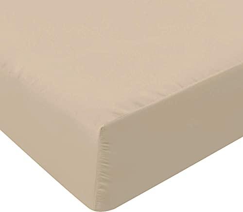 Utopia Bedding Sábana Ajustable 150 x 200 cm - Sábana Cama 150 - Bolsillo Profundo - Microfibra Cepillada Suave (Beige)