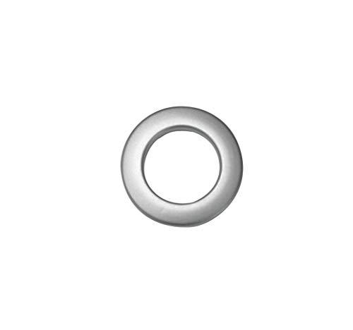 Gardinia Stoffösen, Kunststoff, Silber-matt, 4,6/2,8 cm