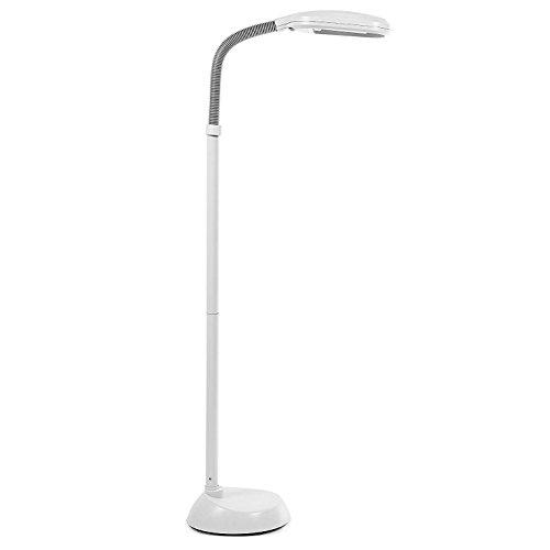 ARSUK® Standleuchten, 230V-60Hz Lesen Standleuchte mit Leuchtstoffröhre 27W Ersatz, für Wohnzimme und Schlafzimmer, Lampenfüße, Tisch- & Nachttischlampen (Standleuchte mit Leuchtstoffröhre 27W-Grau)