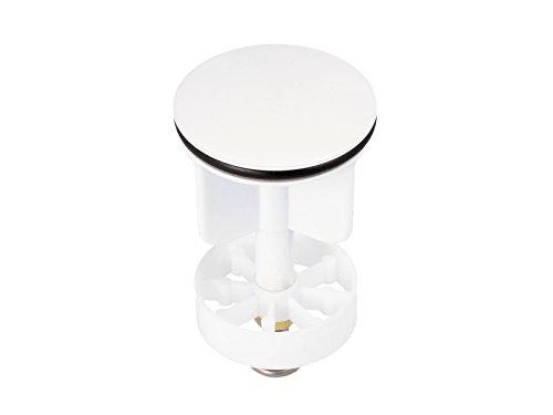 tecuro Excenterstopfen Ø 40 mm Ablaufstopfen Einsatz für Ablauf - weiß RAL-9016