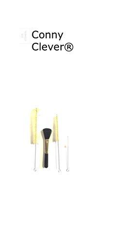 4 tlg Set für Espressomaschinen/Milchschlauchbürste/Reinigungsbürste mit Bürste und Pinsel