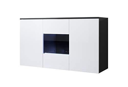 muebles bonitos Aparador Modelo Luke A2 (120x70cm) Colgante Color Negro y Blanco