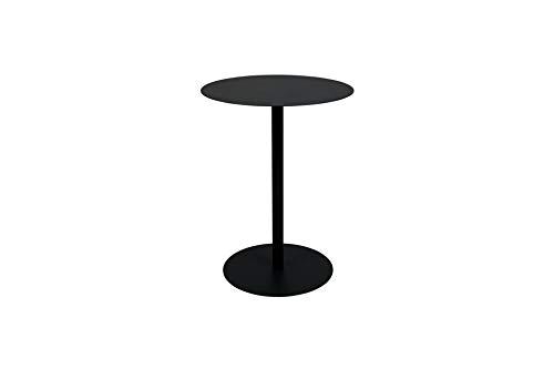 Zuiver Table Bistro Snow Noire   Une Table d'appoint en Acier de Style bistrot