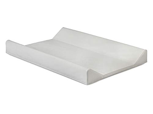 Jollein 021_0000 - Colchón Cambiador de Pañales Bebés Diseño Curvo, 50x70 cm, Blanco