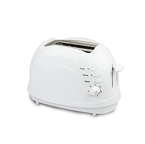 Dpliu 2 Rebanada Mini tostadora, Fabricante de sándwich con 7 ajustes de Temperatura, recalentamiento/descongelación/cancelación, máquina de Desayuno para el hogar, Hotel, Restaurante