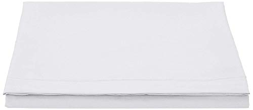 LZ Divine Textiles Percale Flat Bed Sheet Non Iron Easy Care (Single, White)