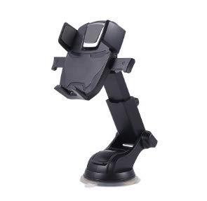 Mishuai Universal Magnetic Car Mount - voor elke telefoon, GPS of lichtgewicht tablet Stijlvolle zwart-chroom houder voor één hand en één seconden, 100 voor veiligheid en comfort