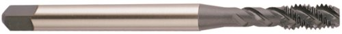 YG-1 BS Series Vanadium Alloy HSS Spiral Flute Tap, Steam Oxide, Round Shank with Square End, Modified Bottoming Chamfer, M8.0-1.25 Thread Size, D5 Tolerance