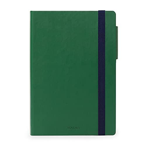 Legami - Agenda Settimanale 18 mesi 2021 2022, Medium con Notebook, British Green
