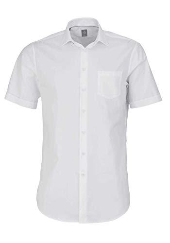 Jacques Britt Custom Fit Hemd Langarm Haifischkragen weiß Größe 38