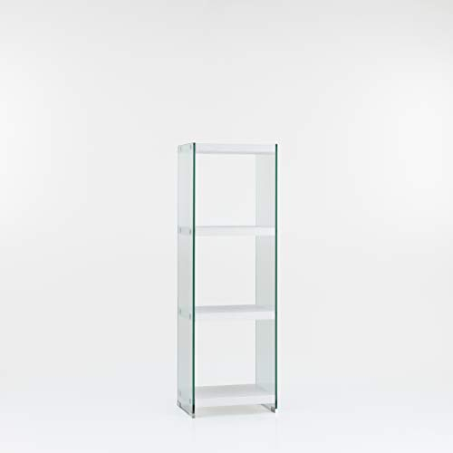 Design Twist Vitrine/boekenkast modern 30x40xH 125 cm Wit