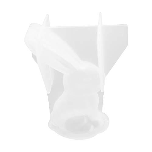 Not application Moldes de silicona 3D para mousse de conejo, moldes de silicona para repostería, moldes de silicona para fondant, dulces, zanahoria, huevo, para decoración de cupcakes, chocolate