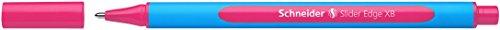 Schneider Schreibgeräte Kugelschreiber Slider Edge, Kappenmodell, XB, Pink, Schaftfarbe: Cyan-Pink, blau, rosa
